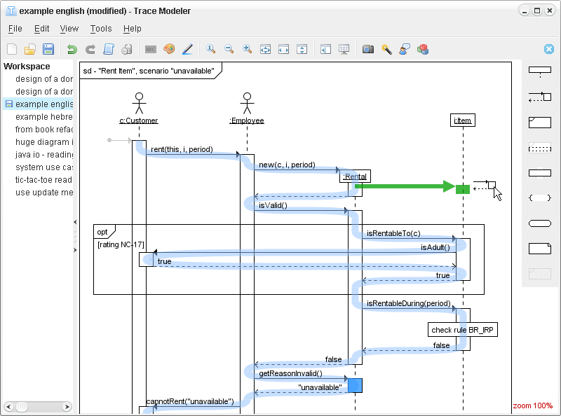 Trace Modeler for UML Sequence Diagrams 1.6